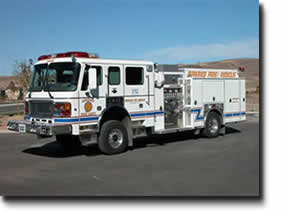 A digital image of Sparks, Nevada's all-wheel drive pumper.  This is an American La France.